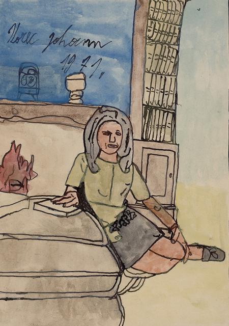 , 'Girl,' 1971, christian berst art brut