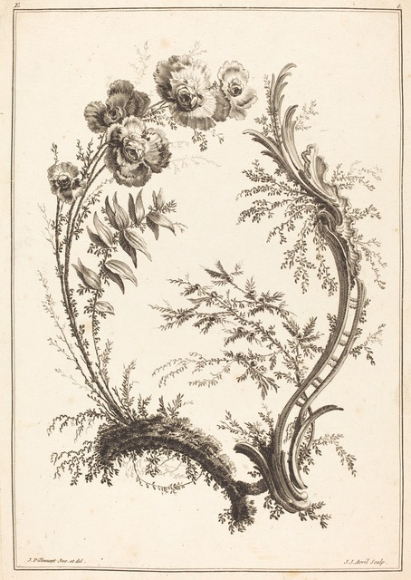 Jean-Jacques Avril I after Jean-Baptiste Pillement, 'Ornament with Flowers', National Gallery of Art, Washington, D.C.