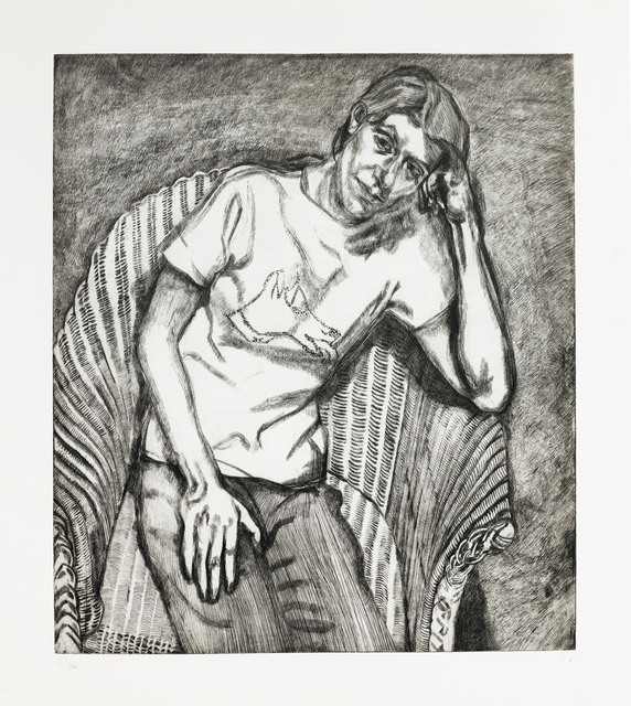 Lucian Freud, 'Bella in her Pluto T-Shirt', 1995, Print, Etching, on Somerset paper, Christie's