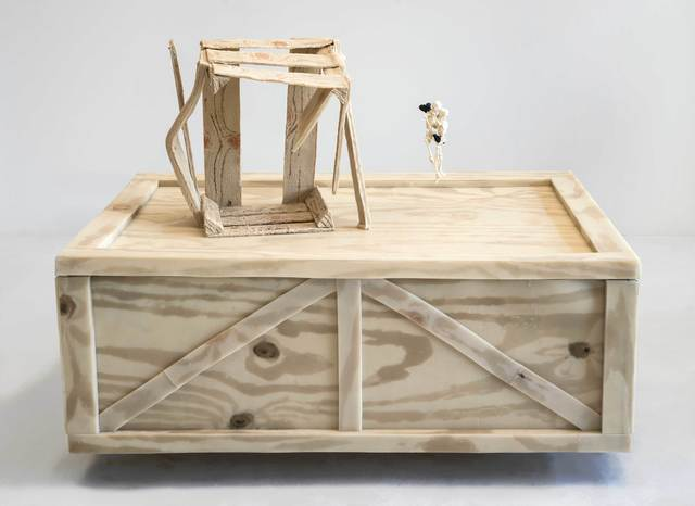 , 'Two Crates with Hanging Skeletons,' 2019, Marc Straus