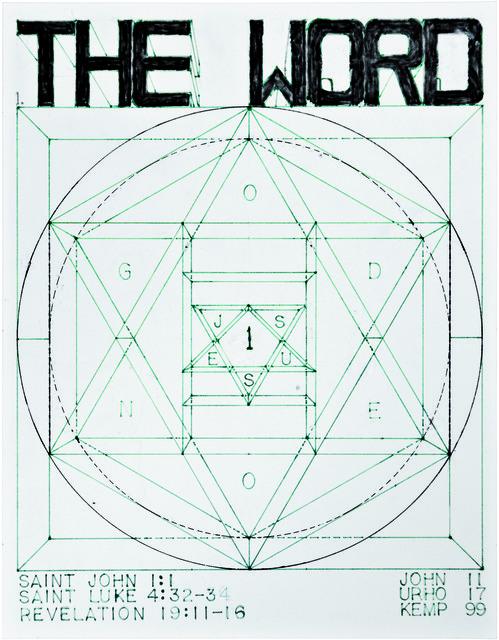 , 'untitled (The Word),' 1999, christian berst art brut