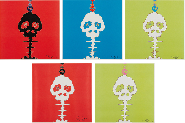 Takashi Murakami, 'LIME GREEN - TIME; RED - TIME; Time Bokan - green; Time Bokan - blue; and Time Bokan - red', 2001-08, Phillips