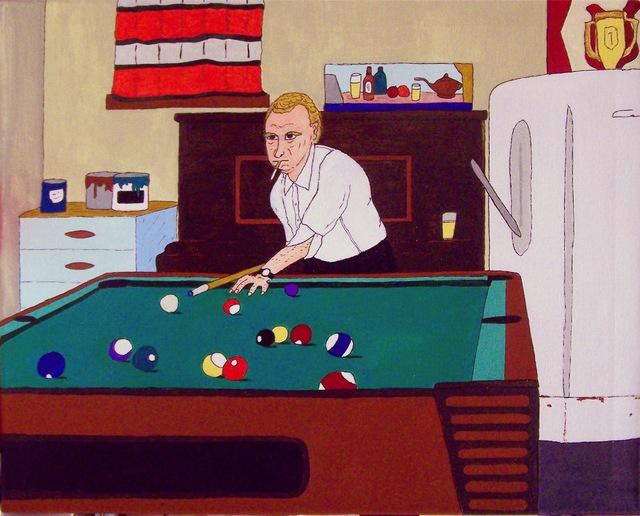 , 'Billiards In The Basement,' 2017, Clyde Hogan Fine Art