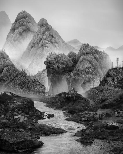 , '太古蜃市 - 沉没 Time Immemorial - Sinking,' 2016, Matthew Liu Fine Arts