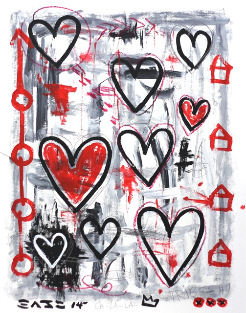, 'Grey Hearts,' 2014, Artspace Warehouse