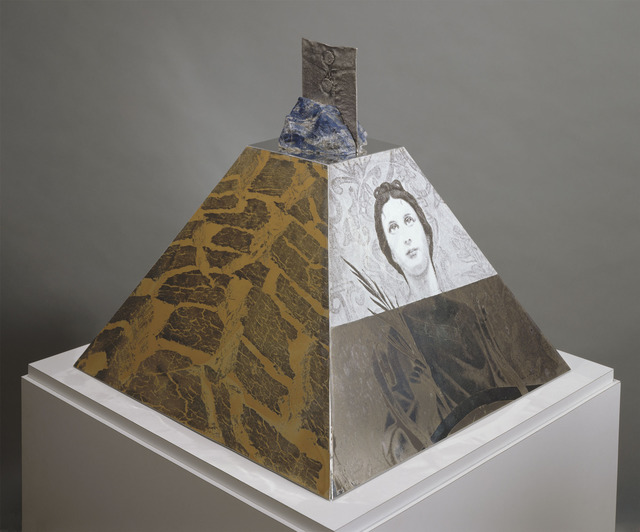 Robert Rauschenberg, 'Araucan Mastaba/ROCI Chile', 1985-86, Sculpture, Screenprinted enamel with painted editions on polished natural aluminum over a plywood substructure, with sterling silver and lapis lazuli, Graphicstudio USF