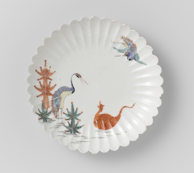 , 'Ribbed bowl with crane and tortoise,' 1670-1690, Rijksmuseum