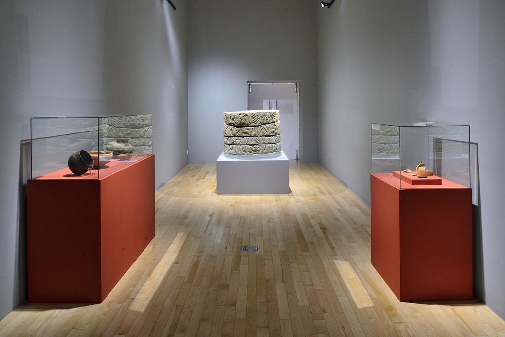 "View of  ""Divine Lords of the Mountain. Puebla's Northern Sierra in times of El Tajín"", Museo Amparo, Puebla, Mexico, 2017."