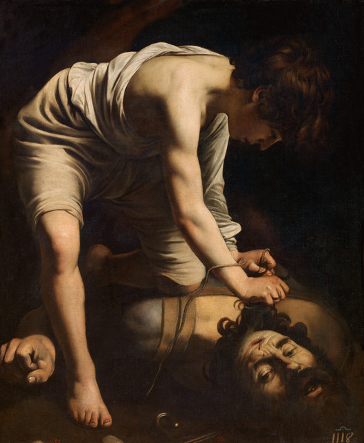 , 'David vencedor de Goliat (David with the Head of Goliath),' 1598-1599, Museo Thyssen-Bornemisza