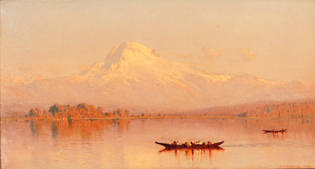, 'Mount Tacoma from Puget Sound (Mount Rainier),' 1877, Montclair Art Museum
