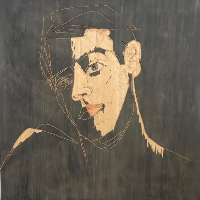 Stephan Balkenhol, 'Relief Mann', 2020, Sculpture, Paint on wawa wood, KETELEER GALLERY