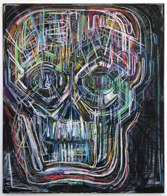 Thomas Houseago, 'Untitled (Colored Skull I)', 2017, Gagosian