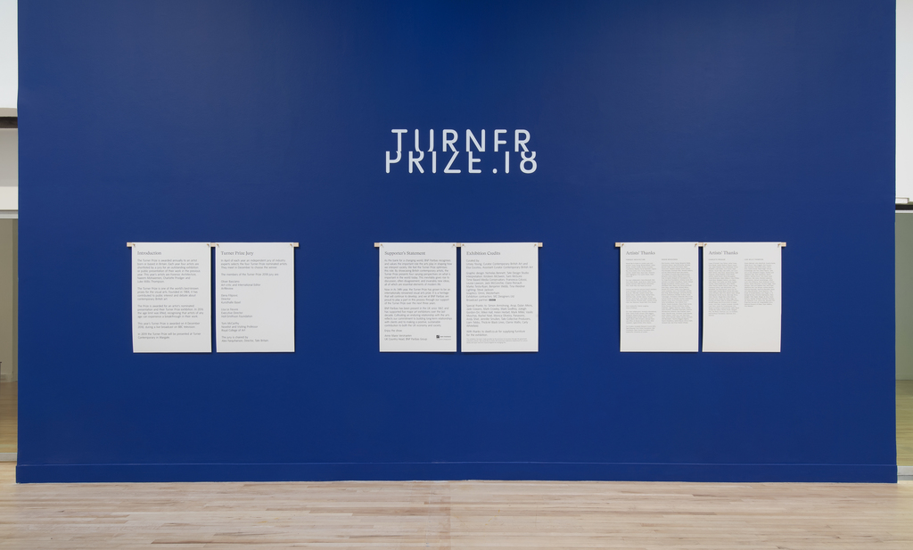 Turner Prize 2019 exhibition installation view. Tate Britain (26 September 2019- 06 January 2019).