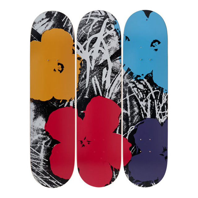 Andy Warhol, 'Flowers (Grey/Red) Skateboard Decks', 2019, Design/Decorative Art, 7-ply Canadian Maplewood with screen-print, Artware Editions