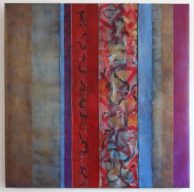 Joan Konkel, 'CARMINA BARANA', ca. 2020, Painting, Acrylic and finely woven mesh on canvas, Judy Ferrara Gallery