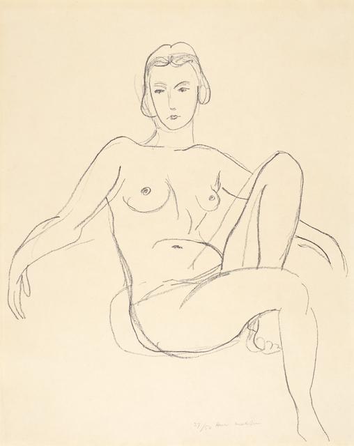 , 'Nu assis les bras étendus,' 1925, Bernard Jacobson Gallery