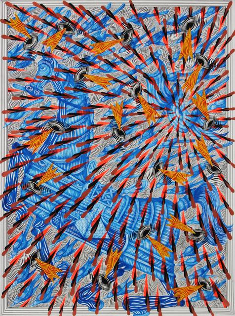 , 'Armored Horse, Diving Birds, and Bursting Flag,' 2018, Galerie Droste