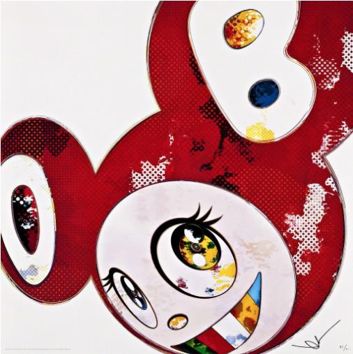 Takashi Murakami, 'And Then x 727 (Vermillion : Shu)', 2013, David Benrimon Fine Art