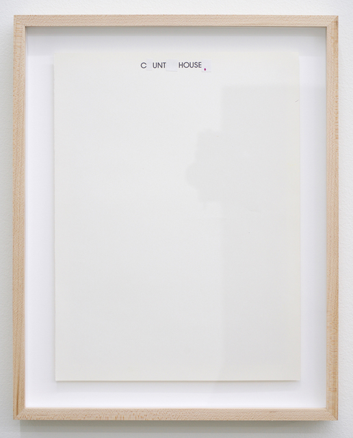 , 'C_unt__ House_,,' 2018, Romer Young Gallery