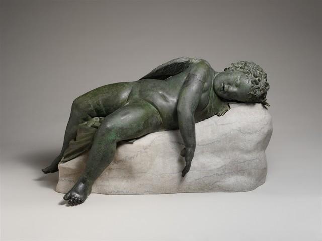 Unknown Greek, 'Bronze statue of Eros sleeping', 3rd–2nd century B.C., Sculpture, Bronze, The Metropolitan Museum of Art