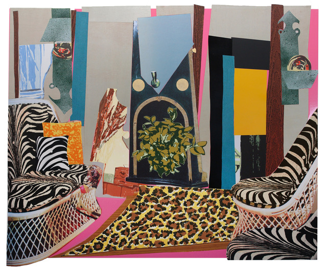 Mickalene Thomas, 'Interior: Zebra with Two Chairs and Funky Fur,' 2014, Tandem Press