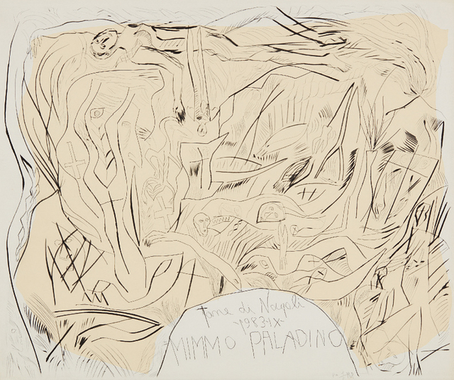 Mimmo Paladino, 'Tane di Napoli portfolio cover', 1983, Phillips