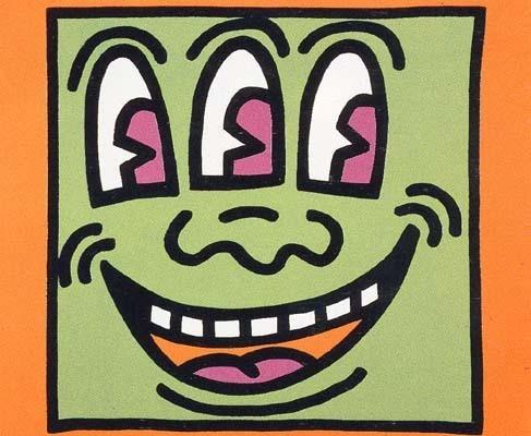 Keith Haring, 'Icons (E) - Three Eyed Man', 1990, Taglialatella Galleries