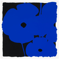 Donald Sultan, Big Poppies-Blue