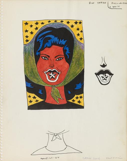 , 'Untitled (Study for Blue Tattoo),' 1964, Derek Eller Gallery
