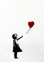 Banksy, Girl With Balloon - Signed