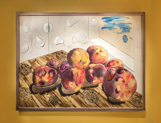 , 'And it was malignant and had spread to every known surface (still life with peaches),' 2018, Friedman Benda
