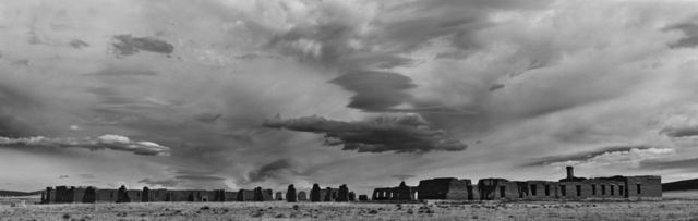 Cody S. Brothers, 'Black & White Panoramic Photograph: 'Enlisted Quarters Big Sky-Fort Union National Monument, NM'|', 2018, Ivy Brown Gallery