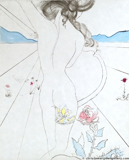 ", 'The Hippies ""Nude with Garter"",' , Russell Collection"