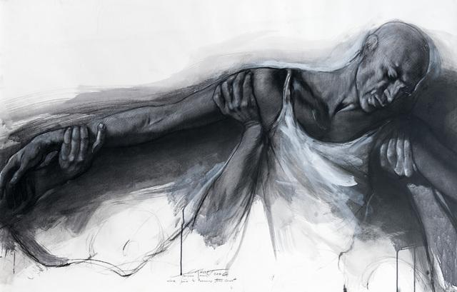 Ernest Pignon-Ernest, 'Etude pour le parcours Genet', 2006, Galerie Lelong & Co.