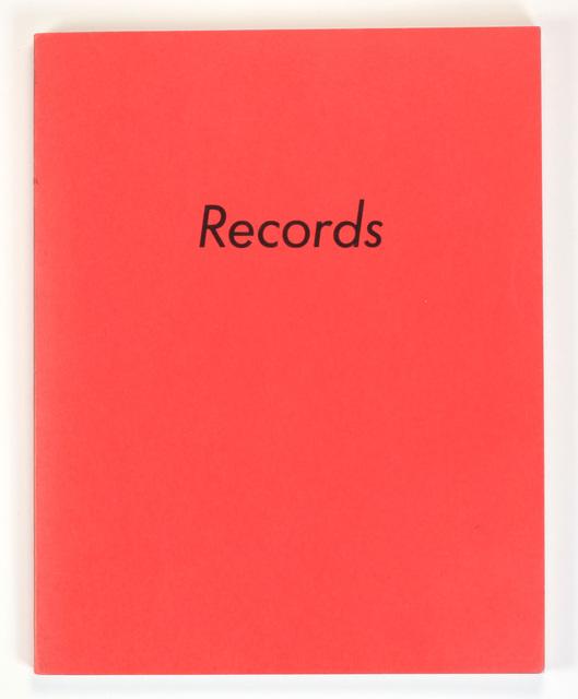 , 'RECORDS,' 1971, Benjamin Ogilvy Projects