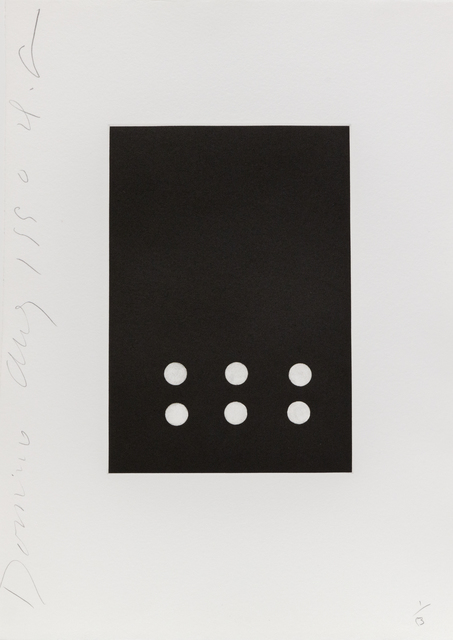 Donald Sultan, 'Dominoes (Six)', 1990, Heather James Fine Art: Color Curation   Modern and Contemporary