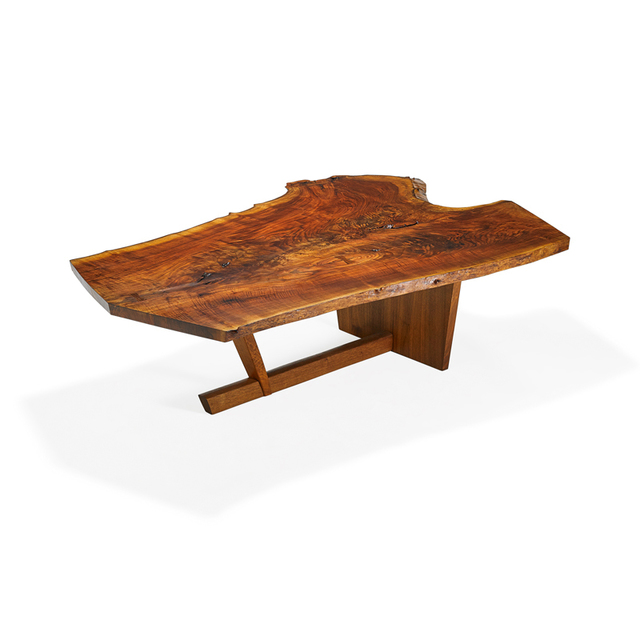 Mira Nakashima, 'Exceptional Sanso table with single slab top, New Hope, PA', 1994, Rago