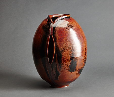 , 'Vase, rust and red black glaze,' , Pucker Gallery