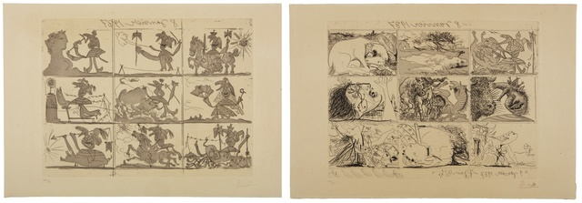 Pablo Picasso, 'Sueño y mentira de Franco (B. 297 and 298; Ba. 615 and 616)', 1937, Print, The suite, comprising two etchings and aquatints, Sotheby's