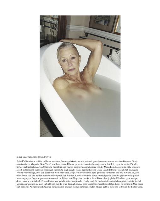 , 'In der Badewanne mit Helen Mirren,' 2010, Christine König Galerie