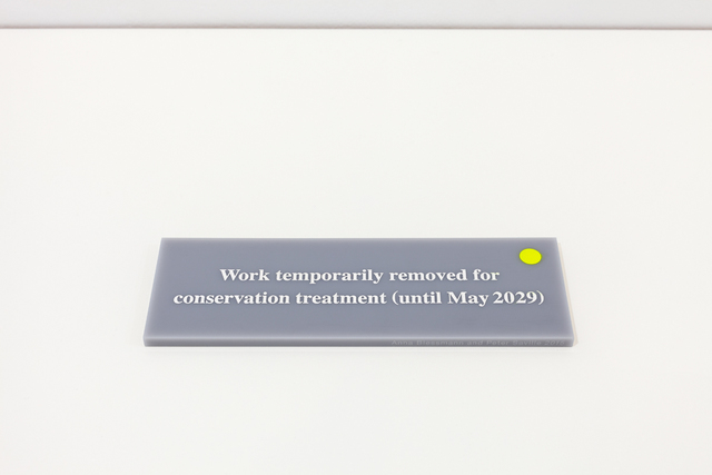 , 'Work temporarily removed for conservation treatment (until May 2029),' 2015, Paul Stolper Gallery