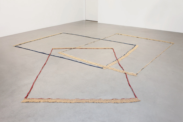 Latifa Echakhch, 'Frames (bleu, bordeaux, beige)', 2009, Installation, Installation, mixed-media, kamel mennour