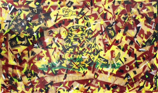 , 'Don't Tread On Me (Exploding Flag),' 2018, Galerie Droste
