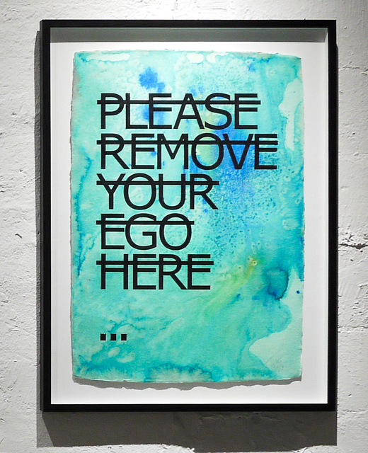, 'Untitled (PLEASE REMOVE YOUR EGO HERE...),' 2018, Fabien Castanier Gallery