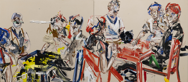 John Copeland, 'Destroyer', 2019, Painting, Oil on raw canvas (diptych), V1 Gallery