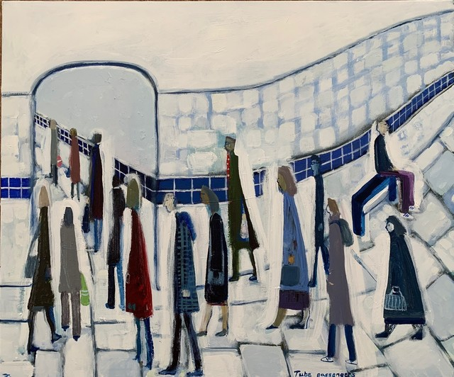 David Fawcett, 'Tube passengers', Contemporary, D-Contemporary