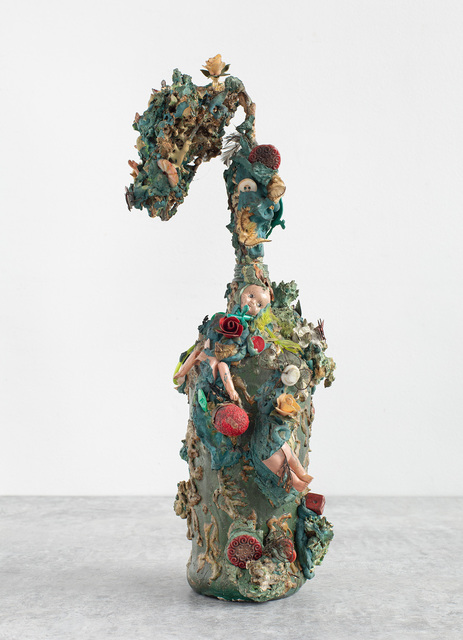 Laurence Vail, 'Out of My Window', ca. 1945, Sculpture, Mixed media assemblage on bottle, Michael Rosenfeld Gallery