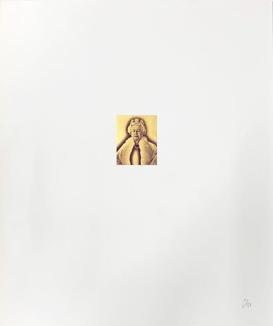 Chris Levine, 'Lightness of Being Gold Elton John Aids Foundation Edition', 2018, Print, Digital print with silkscreen, The Drang Gallery