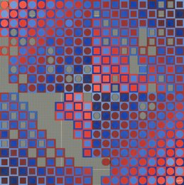 Victor Vasarely, 'Planetary Folklore Participations No. 2, Red-Blue,' 1971, Heritage Auctions: Holiday Prints & Multiples Sale