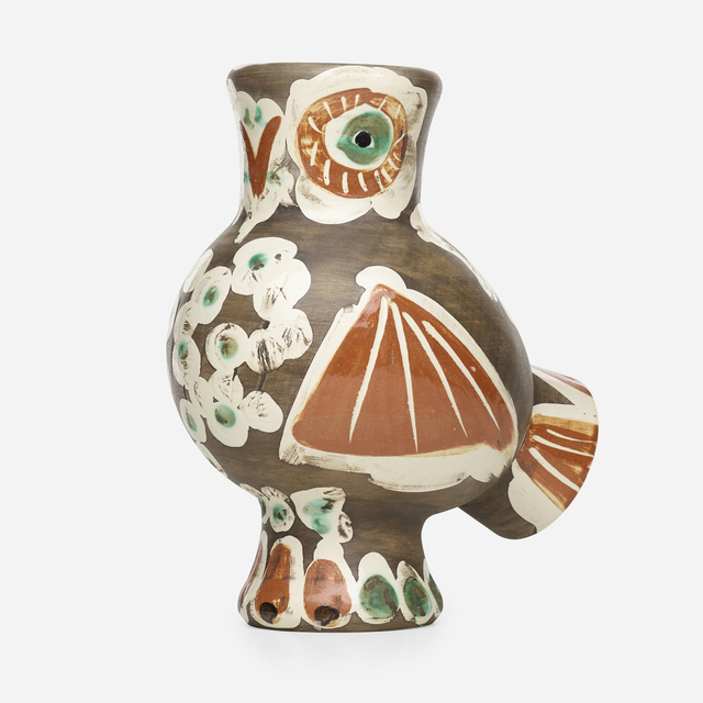 Pablo Picasso, 'Chouette vase', 1968, Textile Arts, Glazed and engraved earthenware with engobe decoration and black patina, Rago/Wright